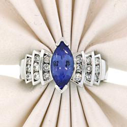 Glamorous Tanzanite & Diamond Ring