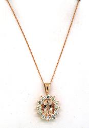 Spectacular Morganite & Diamond Pendant Necklace