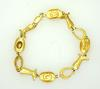 Cowgirl Themed Bracelet, 14K Gold, 7.5in