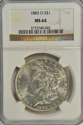 Creamy near Gem BU 1883-O Morgan Dollar. NGC MS64