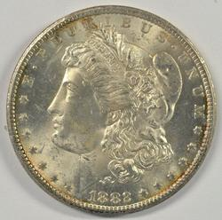 Very Choice BU 1882-CC Morgan Silver Dollar. Nice