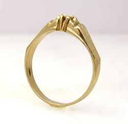 18Kt 0.20Ct Diamond Band in Gold, Size 11