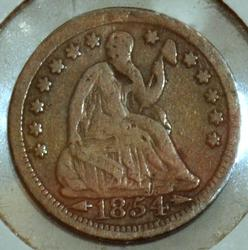 1854 w/Arrows Seated Liberty Half Dime