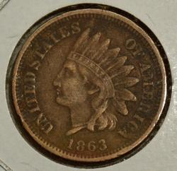 1863 Copper Nickel Indian Head Cent