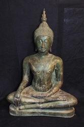 HUGE Magnificent Antique Thai Buddha Bronze Statue