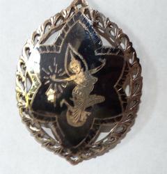 Beautiful Antique Thai design Silver Pendant Necklace