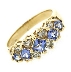 Picturesque Multi Tanzanite & Diamond Band
