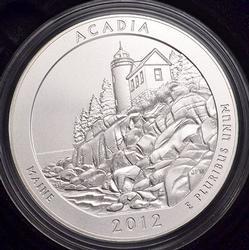 Key 2013 Acadia 5oz ATB Silver Quarter, OGP