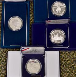 4 x US Proof Commems, Box & Papers
