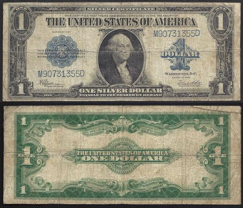 $1 1923 Silver Certificate George Washington   USAuctionBrokers.com