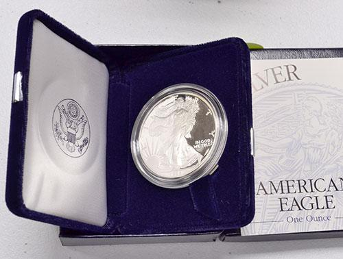 1994 Proof American Silver Eagle, OGP