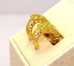 Peridot & Gold Huggies
