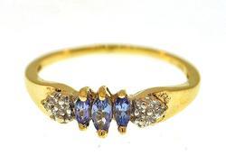 10KT Tanzanite & Diamond Ring