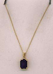 14KT Yellow Gold Amethyst Necklace