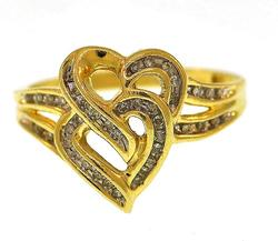10KT Yellow Gold Heart Ring