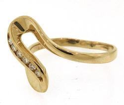 14KT Yellow Gold Diamond Wave Ring