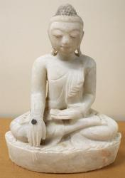 Burmese Buddha Marble Statue - Mandalay period Antique