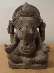 Stunning Antique Sandstone Ganesh Statue - Cambodian