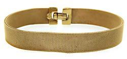 Trendy 18K Gold Mesh Bracelet
