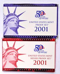 2001 Year Proof Sets, Silver & Clad
