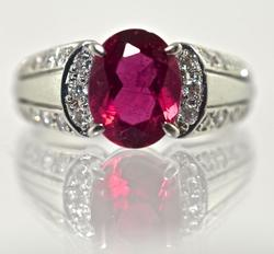 Perfectly Pleasing Platinum Pink Tourmaline Ring
