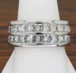 10 CTW Platinum Diamond Band