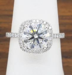 Simon G GIA Certified Diamond Ring