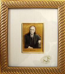 Italian Handmade, Collectible Gold Leaf Portrait
