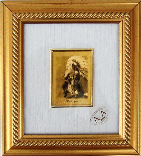 Collectible Limited Italian Handmade GoldLeaf Black Fox