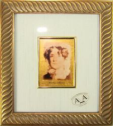 Collectible Limited Italian Handmade Gold Leaf Portrait