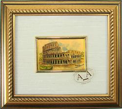 Italian Handmade, Collectible Gold Leaf Monument