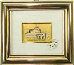 Collectible Limited Italian Handmade Gold Leaf Scenery