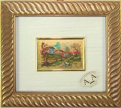 Italian Handmade, Collectible Gold Leaf Scenery