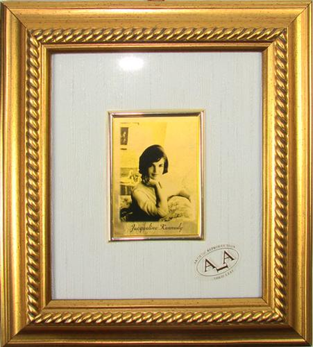 Collectible Italian Handmade Gold Leaf Jacqueline Kennedy