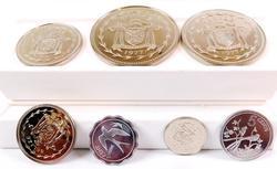 1977 Belize 7 Coin Set