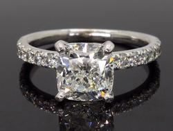 14K White Gold GSI Certified 2.58CTW Diamond Ring