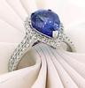 Sophisticated Elegance: Tanzanite & Diamond Ring