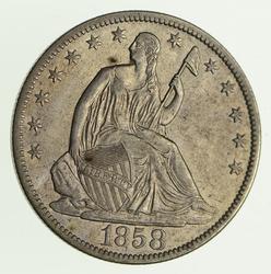 1858-O Seated Liberty Silver Half Dollar - Circulated