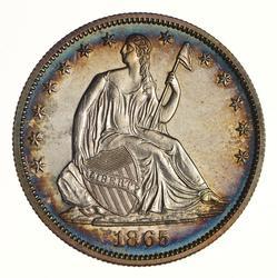 1865 Seated Liberty Half Dollar - Proof
