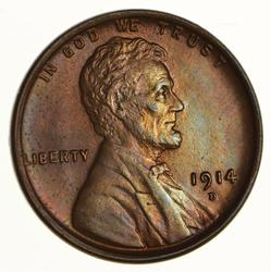 1914-D Lincoln Wheat Cent - Choice