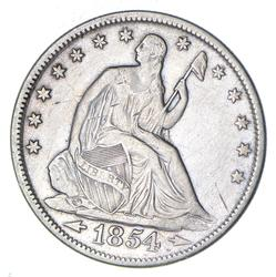 1854 Seated Liberty Half Dollar - Circulated