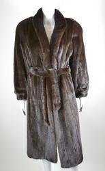 Magnificent Quality Natural Mahogany Mink Fur Coat