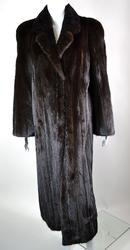 Exceptional British Dark Mahogany Full Length Mink Coat