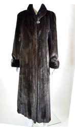 Excellent Quality Natural Female Black Glama Swing Coat