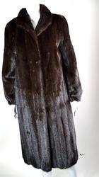 Classic Mahogany Mink Fur Coat