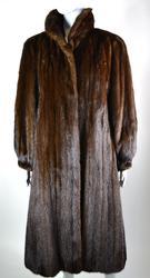 Natural Full Length Mahogany Mink Coat