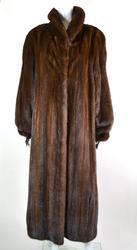 Full Length Mahogany  Mink Coat
