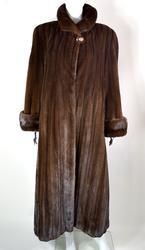 Magnificent Female Mahogany Full Length Mink Coat