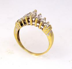 Well-Made 1.6ctw Marquee Cut Diamond Ring, Size 10.75