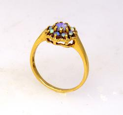 Moonstone Flower Ring in Gold, Size 7.25